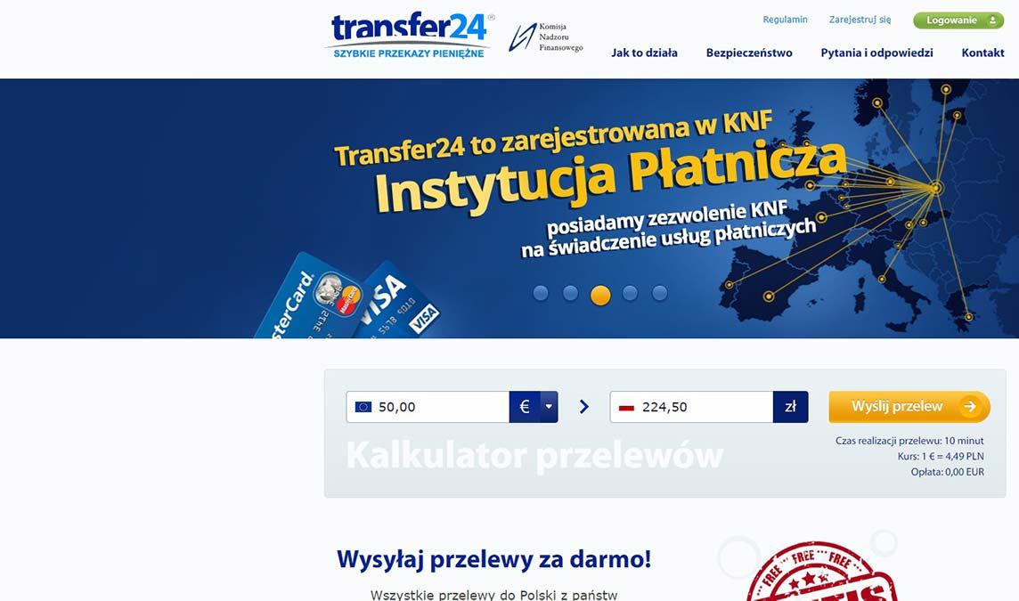 Transfer24 - Ranking, opinie i recenzje ofert
